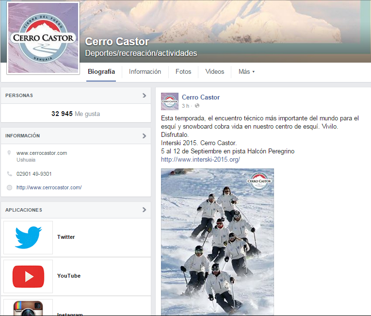 Marketing Online para Cerro Castor